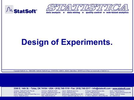 Design of Experiments.. Introduction.  Experiments are performed to discover something about a particular process or system.  Literally experiments.