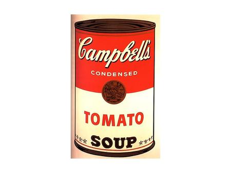 Pop Art Andy Warhol Campbell's Campbell's Soup CanSoup Can.