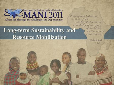 Long-term Sustainability and Resource Mobilization.