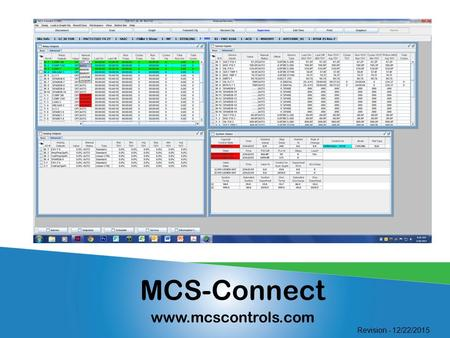MCS-Connect www.mcscontrols.com Revision - 12/22/2015.