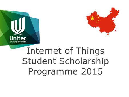 Internet of Things Student Scholarship Programme 2015.