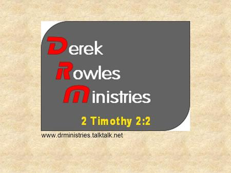 Www.drministries.talktalk.net. WHY DOES GOD ALLOW SUFFERING?