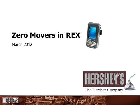 Zero Movers in REX March 2012. Key Messages Distribution is a critical building block in the 2012 Food plan Achieving the goal of increasing distribution.
