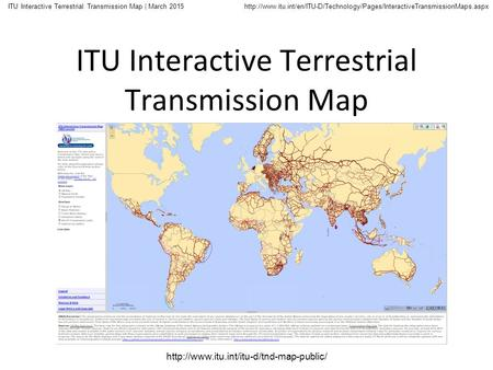 ITU Interactive Terrestrial Transmission Map | March 2015