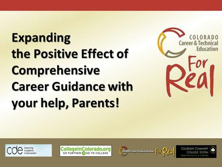 Expanding the Positive Effect of Comprehensive Career Guidance with your help, Parents!