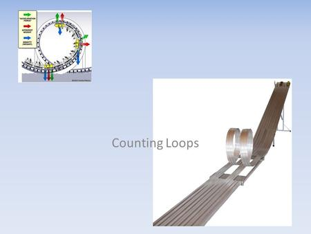 Counting Loops. Introduction to Loops: The Counting Loop Chap 2 section 2.3 A loop is a repeating structure that contains a block of program statements.
