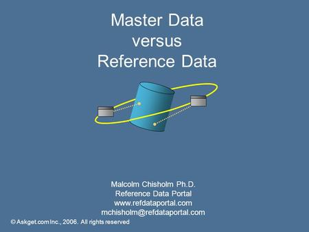 Master Data versus Reference Data