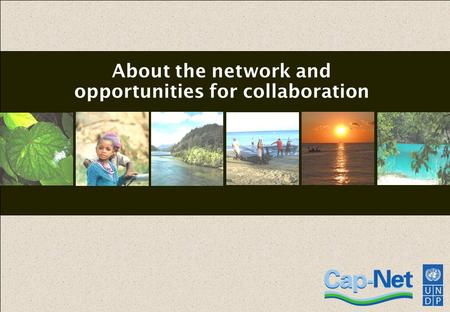 1 About the network and opportunities for collaboration.