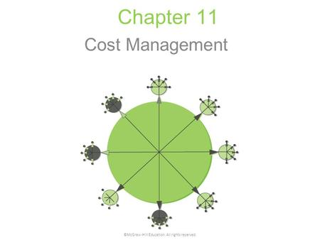 Chapter 11 Cost Management ©McGraw-Hill Education. All rights reserved.