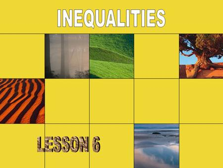Solving Inequalities Just like with equations, the solution to an inequality is a value that makes the inequality true. You can solve inequalities in.