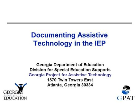 Documenting Assistive Technology in the IEP
