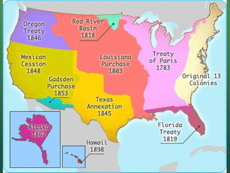 Treaty of Paris When? 1783 From Who? Britain How? Treaty at the end of the Revolution Britain gave up all lands between Atlantic Coast and Mississippi.
