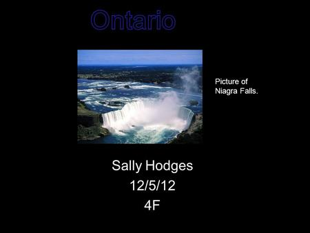 Sally Hodges 12/5/12 4F Picture of Niagra Falls..