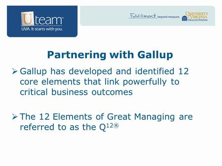 Partnering with Gallup