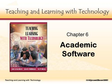 Teaching and Learning with Technology Master title style  Allyn and Bacon 2002 Teaching and Learning with Technology to edit Master title style  Allyn.