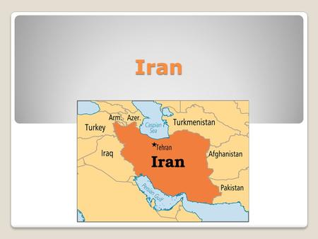 Iran. A brief history of Iran Before 1935 Iran was known as Persia. The discovery of oil in the early 20th Century generated international interest in.