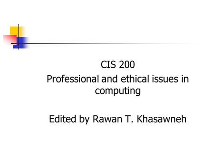 computer ethics and impact of society information technology essay The cyber ethics issues: factors and impact of  (faculty of computer science and information technology,  will give awareness towards the society about the.