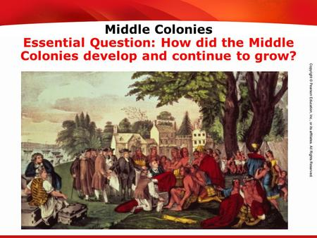 TEKS 8C: Calculate percent composition and empirical and molecular formulas. Middle Colonies Essential Question: How did the Middle Colonies develop and.