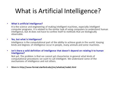 understanding what artificial intelligence entails and how it is achieved