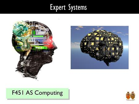 Expert Systems F451 AS Computing. Expert Systems - Definition Created from research into Artificial Intelligence – AI Facts & Rules Also known as knowledge.