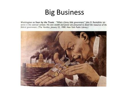 Big Business. Factors Supporting Industrialization: Western Mining Immigration Government subsidies and tax concession to railroad Advances in communication.