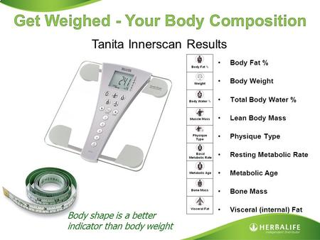 Get Weighed - Your Body Composition