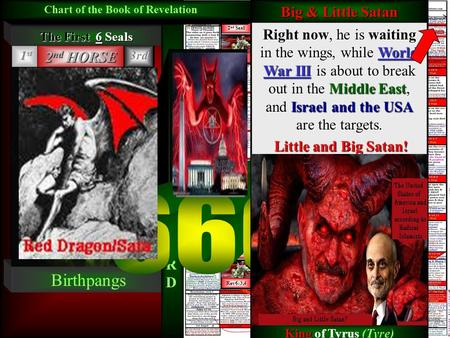 THEENDT IMES 2 nd Seal Red Horse Rev6:3,4 2 nd Seal Red Horse Rev6:3,4 The Last Days CHART OF THE BOOK of REVELATION & The End of the World! Charting.