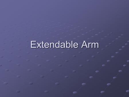 Extendable Arm. Background Vincent Brown is the subject of our research. After being in a car accident Vince suffered injuries to his back that rendered.