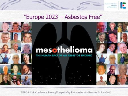 """Europe 2023 – Asbestos Free"" EESC & CoR Conference: Freeing Europe Safely From Asbestos – Brussels 24 June 2015."