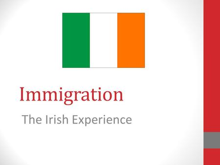 Immigration The Irish Experience