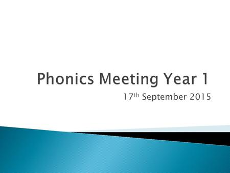17 th September 2015.  To share information about the phonics test  To let you know what we will be doing with phonics  To let you know what you can.