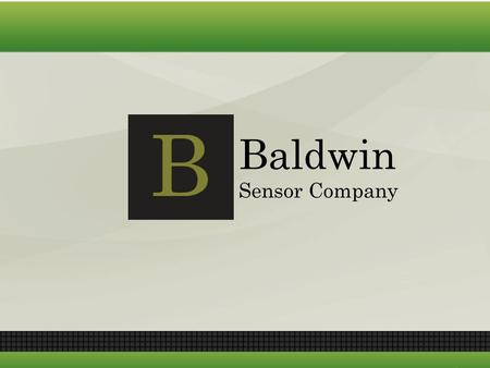 Baldwin Sensor Company. Introduction Baldwin Sensor Company: – Founded in 2015 – In the last five years has cumulative profits of over $18,000,000 and.