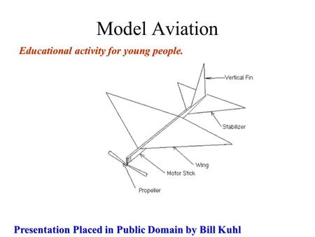 Model Aviation Educational activity for young people.