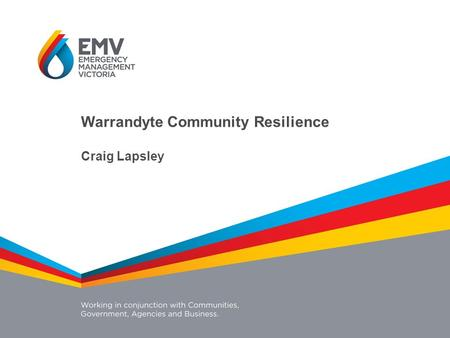 Warrandyte Community Resilience Craig Lapsley. Challenges Population change Climate change Urbanisation Globalisation Community look and expectations.
