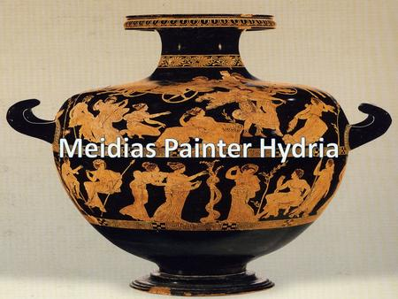 Attribution Details This was made between 410-400 BC The size of the vase is 52 cm Potter: Meidias The painter is unknown since he did not sign his name.