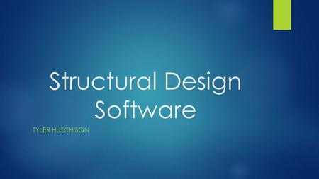 Structural Design Software TYLER HUTCHISON. Requirements  Develop an interface to generate a text file.  The text file is then passed to one of five.