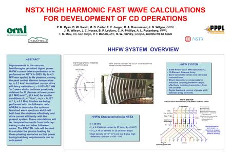 NSTX HIGH HARMONIC FAST WAVE CALCULATIONS