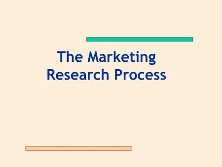 The Marketing Research Process. The Marketing Research Process: 11 Steps Step One:Establishing the Need for Marketing Research Step Two:Defining the Problem.