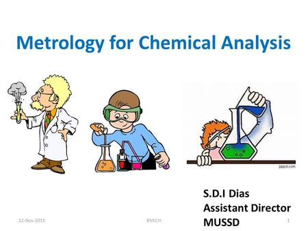 Metrology for Chemical Analysis