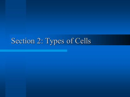 Section 2: Types of Cells. Cell Theory (Review) 1.All organisms (living things) are composed of one or more cells. 2.The cell is the basic unit of (life)