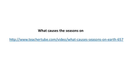 What causes the seasons on Earth?
