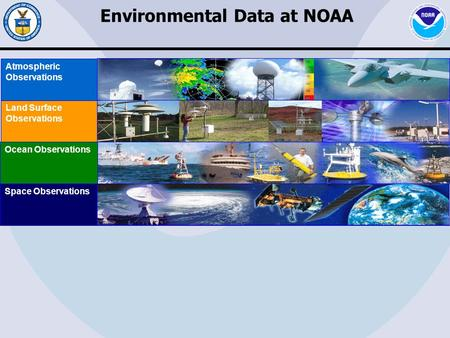 Space Observations Ocean Observations Land Surface Observations Atmospheric Observations Environmental Data at NOAA.