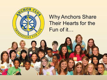 Why Anchors Share Their Hearts for the Fun of it….