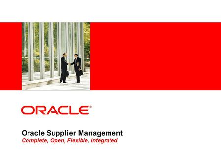 Oracle Supplier Management