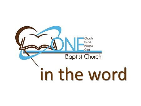"In the word. One ""One LOVE"" ~Key of David~  Attitude TOWARD  Attitude TOWARD the word of God  Love FOR  Love FOR the word of God."