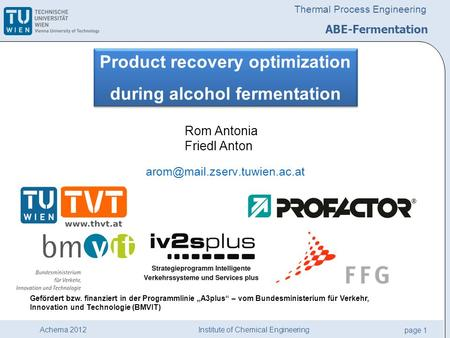 Product recovery optimization during alcohol fermentation