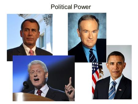 Political Power. Power: the ability of one person to get another person to act in accordance with the first person's intentions. Authority:the right to.
