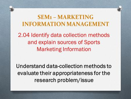 sources of marketing information
