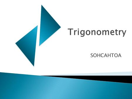 SOHCAHTOA.  Write down everything you know about triangles.  Include any vocabulary related to triangles that you may have learned.  Include Diagrams.