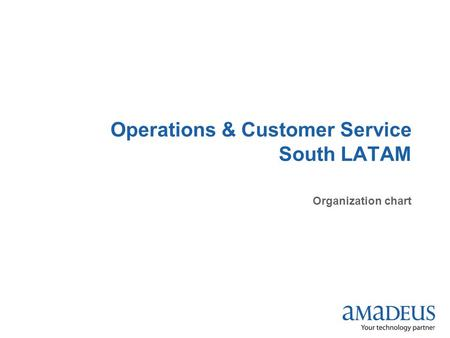 Operations & Customer Service South LATAM